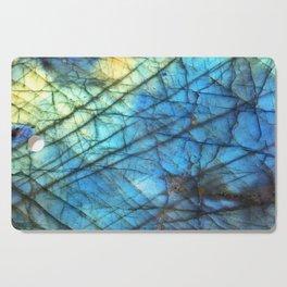 Royal Labradorite Crystal Agate Gemstone Print Cutting Board