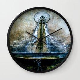 Fountain Bleu Wall Clock