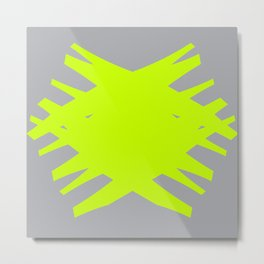 Accordian Summer X   neon green Metal Print