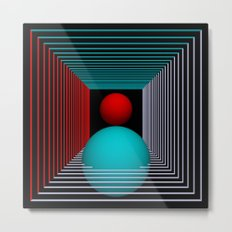 experiments on geometry -8- Metal Print