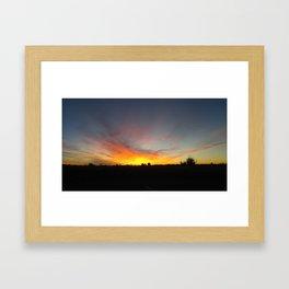 Commerce City Sunrise Framed Art Print