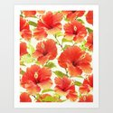 FLORAL PATTERN - HIBISCUS - by myloa