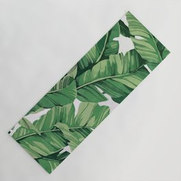 Tropical banana leaves VI Yoga Mat