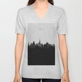 City Skylines: Delhi Unisex V-Neck