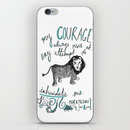 COURAGE: PRIDE AND PREJUDICE by JANE AUSTEN iPhone Skin