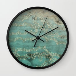 Mint Marble Wall Clock