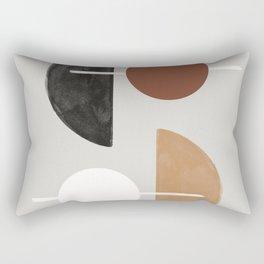 Moon and Sun Abstract Rectangular Pillow