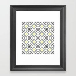 Carina - grey yellow Framed Art Print