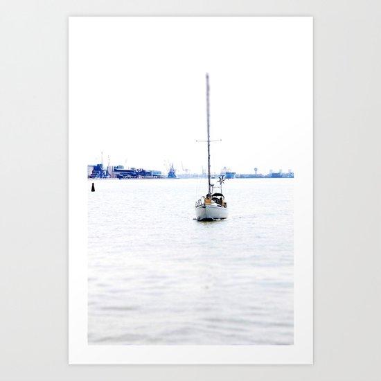 sail with me Art Print