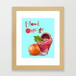 Blood Orange Framed Art Print