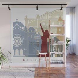 Kingston skyline poster Wall Mural