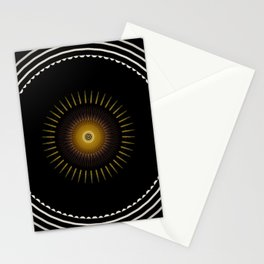 Modern decorative Black and White Mandala Stationery Cards