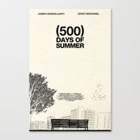 500 days of summer Canvas Prints featuring (500) Days of Summer by Martin Lucas