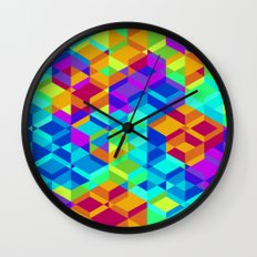 Geometric colour Wall Clock