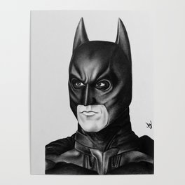 The Bat Drawing Poster