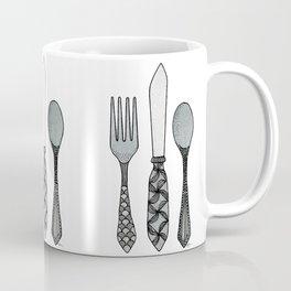Fork Knife & Spoon Coffee Mug
