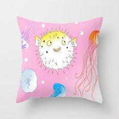 Little Fugu Throw Pillow