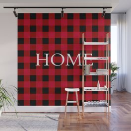 Home Red Buffalo Check Wall Mural