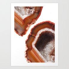 Flame Agate Art Print