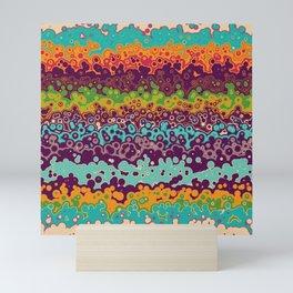 Retro bubbles Mini Art Print