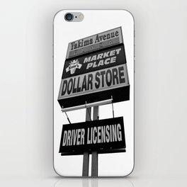 Yakima Ave. Plaza iPhone Skin