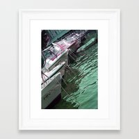 boats Framed Art Prints featuring boats by Angela Bruno