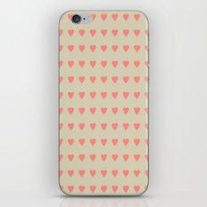 Pastel Heart Valentine Pattern Background iPhone & iPod Skin