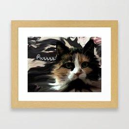 Purrrr! Framed Art Print