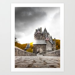 Castle in the Woods 4 Art Print