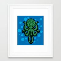 cthulhu Framed Art Prints featuring Cthulhu by kelseycadaver