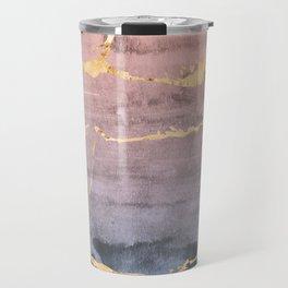 Watercolor Gradient Gold Foil Travel Mug