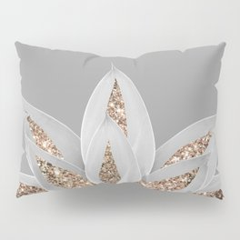 Gray Agave with Gold Glitter #1 #shiny #tropical #decor #art #society6 Pillow Sham