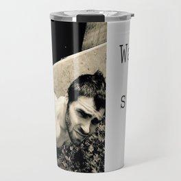 Man on a Ledge Travel Mug