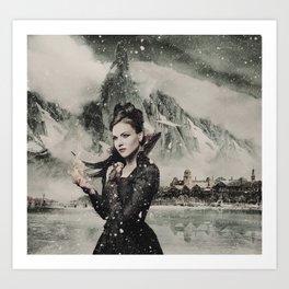 Frozen Theme 2 Art Print