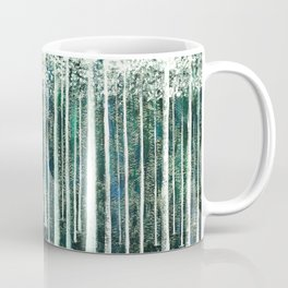 Christmas Stag in the jungle handpainted Coffee Mug