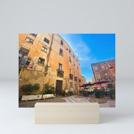 View of Cagliari   Cagliari Sardinia Travel Photography   Travel photo Art Mini Art Print