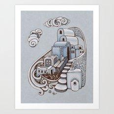 Santorini Art Print