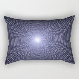 Abstract Fractal Blue Spiral Background Rectangular Pillow