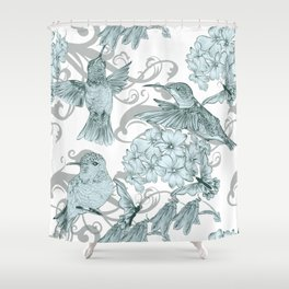 VINTAGE BIRDS Shower Curtain