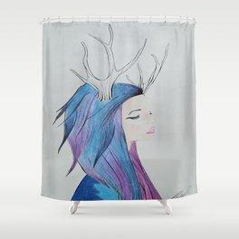 ninfa galactica Shower Curtain