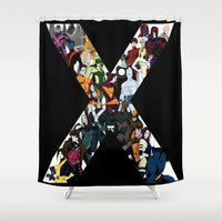 magneto Shower Curtains featuring X1 by Andrew Formosa