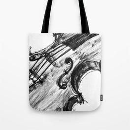 Black Violin Tote Bag