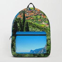 Lake Garda 4k italian cities HDR beautiful nature Italy summer Europe Backpack