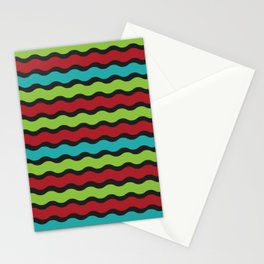Green, Red & Blue Zig Zag Patterm Stationery Cards
