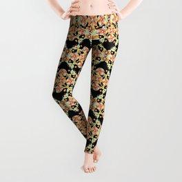 Suzani Stripe Pattern Leggings