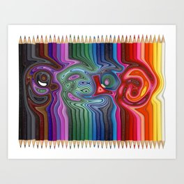 Twisted Pencils Art Print