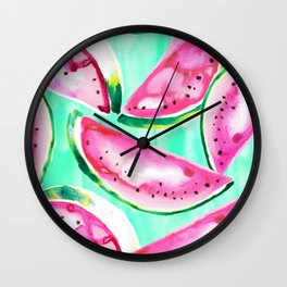 Watermelon tropics Wall Clock