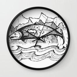 Wild Alaska Wall Clock