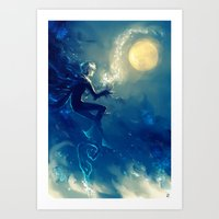 jack frost Art Prints featuring Jack Frost by AkiMao