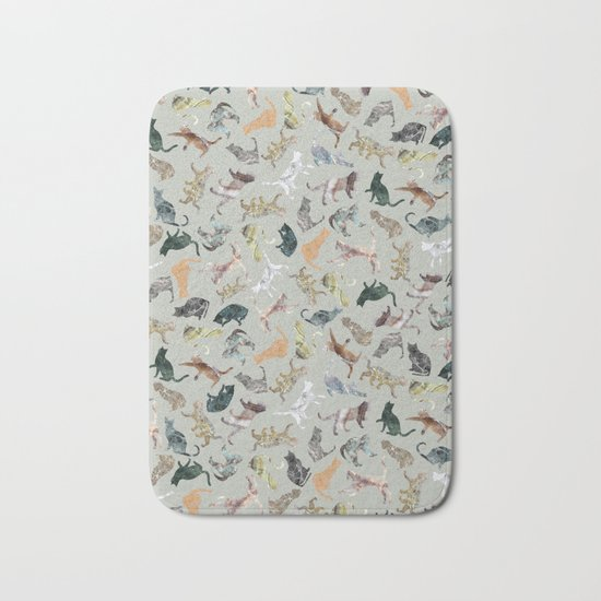 Marble Cats Bath Mat
